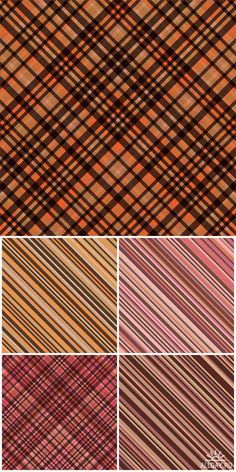 Vector backgrounds checkered and striped