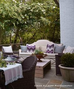 Dana Wolter Interiors is an award winning interior design firm specilizing in classic, timeless design located in Mountain Brook, a suburb of Birmingham, AL Outdoor Spaces, Outdoor Living, Outdoor Decor, Beautiful Space, Beautiful Homes, Simply Beautiful, Lattice Garden, See The Sun, Garden Seating
