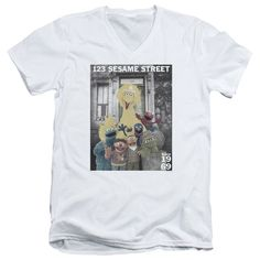 """Checkout our #LicensedGear products FREE SHIPPING + 10% OFF Coupon Code """"Official"""" Sesame Street / Best Address-short Sleeve Adult V-neck 30 / 1 - Sesame Street / Best Address-short Sleeve Adult V-neck 30 / 1 - Price: $34.99. Buy now at https://officiallylicensedgear.com/sesame-street-best-address-short-sleeve-adult-v-neck-30-1"""