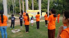 Free Yoga Camp organised at lodhi garden by Health Fitness Trust on the occasion of #InternationalYogaDay. #ITD2016