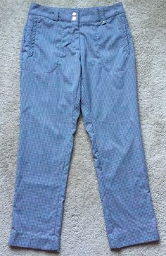 "Nike Golf Women's Gray Checkered Slim Leg Golf Pants EUC Size 4 30"" Waist | eBay"