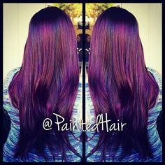Dark Red Violet color blend,
