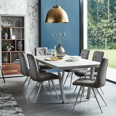 Halmstad - Dining Table and 6 Hix Chairs | Desks | Smart Shop