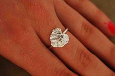 Lotus Leaf Ring by TeriLeeJewelry on Etsy, $35.00