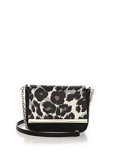 Diane von Furstenberg Voyage Leopard-Print Crossbody Bag