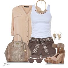 """""""Animal Print Tie Belt Shorts"""" by jgee67 on Polyvore"""