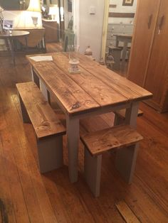 We can do little dinky benches for the end of your table...
