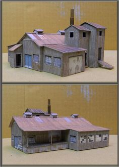 <div><b><u></u></b></div><div>Here are some photos I just took of the completed N scale Carolina Castings. Everything except the cupola stack and shipping dock roof posts are printed paper on my Model Builder program design.</div>