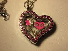 Pink Puppy Heart Floating Locket Necklace by JRCsJEWELRY on Etsy