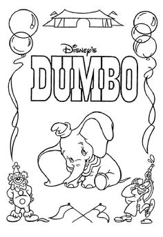 Dumbo the elephant Coloring Pages 15 - Free Printable Coloring Pages - Coloringpagesfun.com