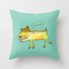 DOGGIE_A Throw Pillow by PINT GRAPHICS - $20.00