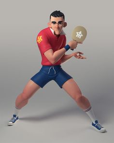 Ping Pong Boy!, Jean M. Oliveira on ArtStation at https://www.artstation.com/artwork/vyN8D?utm_campaign=digest&utm_medium=email&utm_source=email_digest_mailer Maybe something for 3D Printer Chat?