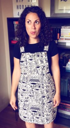 Chrissy's Cleo dungaree dress - sewing pattern by Tilly and the Buttons