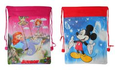 £1.99 - New Disney Drawstring Bag Girls Boys Children's Kids Cartoon Gym Tote Bag School in Clothes, Shoes & Accessories, Kids' Clothes, Shoes & Accs., Girls' Accessories | eBay