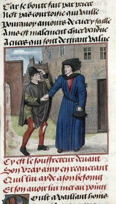 Guillaume de Lorris and Jean de Meun, Roman de la Rose, c. 1490 - c. 1500, Harley 4425, f. 47v, Friendship