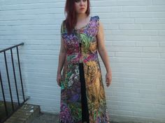 SALE!!!Handpainted long silk-vest size S. - pinned by pin4etsy.com
