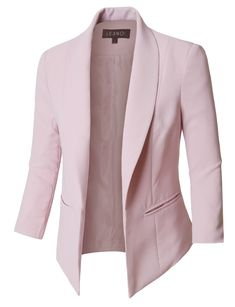 Look at the website above click the grey tab for extra alternatives ~ cheap womens blazer jackets Casual Blazer Women, Blazers For Women, Jackets For Women, Casual Wear, Classy Outfits, Chic Outfits, Fashion Outfits, Light Pink Blazers, Blazer Fashion