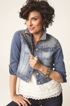 Embellished Denim Jacket & Softly Chic Veronica Top #Fall #Lookbook #chicos