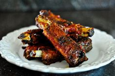 Ribs are intimidating to me, but these I think I can do!  Thank you The Red Spoon blog!