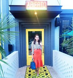Last night's look was all about punchy hues and playful hems 💃🏻💃🏻 This skirt is also available in black and it's only $62! 🍊 You can shop this entire look via @liketoknow.it by typing this URL into your browser exactly as is (case sensitive): http://liketk.it/2oJJS 😘😘😘 #liketkit #ltkunder100