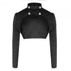Black Steampunk Bolero Jacket