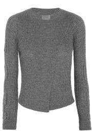 Maiyet:Wrap-effect cashmere sweater