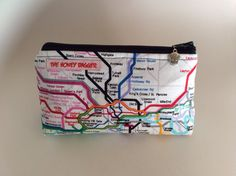 London Underground Makeup Bag (Small) on Etsy, $16.00 CAD