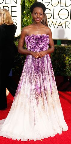 Eric Wilson's 10 Best Dressed From the 2015 Golden Globes - Lupita Nyong'o from #InStyle