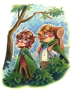 LotR: Frodo and Sam by shine-sprite Fan Art / Traditional Art / Drawings / Books & Novels  ©2015 shine-sprite Recently watched the Lord of Rings trilogy so I felt like drawing some cute little hobbit folk! I forgot how good the soundtrack is for these films.TheBreaking of the Fellowshipis probably my favourite track. So emotional, man.