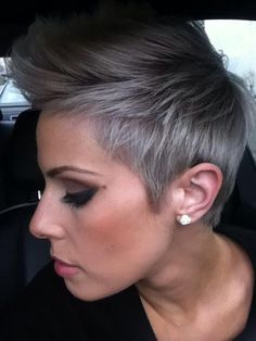 Looking for a stylish pixie cut? We represent you the best images of 25 Gorgeous Pixie Cut Styles You Must See, take a look at our gallery and be inspired! Medium Pixie Cut Pixie cuts with wispy bangs and spiky… Continue Reading → Short Cropped Hair, Short Grey Hair, Short Hair Cuts, Really Short Hair, Pixie Cut Styles, Short Hair Styles, Pixie Cuts, Pixie Hairstyles, Cool Hairstyles