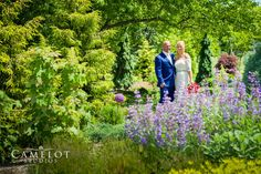 Bride and Groom at Bayard Cutting Arboretum State Park