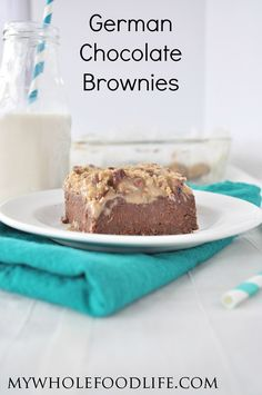 German Chocolate Quinoa Brownies.  OMG.  You have to try this secretly healthy treat!  Perfect for holiday parties. Vegan, gluten free and grain free.