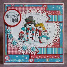 A Scrapjourney: Family Snowpeople