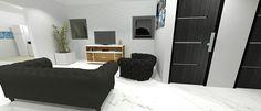 Casa Onda, sala de estar, cena 2.  (Maquete eletrônica feita por Sarah Batirolla)