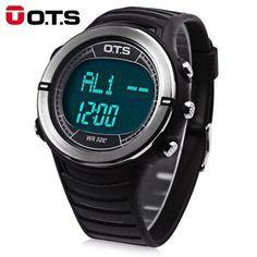 Llévalo por solo $72,500.OTS 7019G hombres LED Digital reloj deportivo.