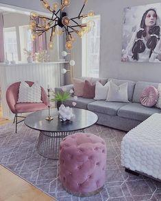 31 Amazing Simple Living Room Decor Ideas You Have To Try Simple Living Room Decor, Glam Living Room, Grey Living Rooms, Living Spaces, Living Room Inspiration, Apartment Living, Living Room Designs, Home Decor, Decor Room