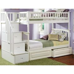 Columbia Storage Bunk Bed With Staircase