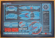 """Speed Racer - silkscreen movie poster (click image for more detail) Artist: Jesse Philips Venue: Alamo Drafthouse Location: Austin, TX Date: 5/10/20088 Edition: not signed or numbered Size: 37"""" x 25"""""""