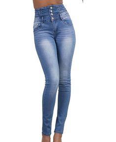 4e56c73d74 Las 15 mejores imágenes de Pantalones vaqueros de color azul claro ...