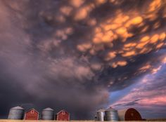 """""""Beautiful sunset over the wheat fields of Saskatchewan, Canada."""" (Photograph Courtesy Mark Duffy / National Geographic Your Shot). Tornados, Beautiful Sunset, Beautiful World, Simply Beautiful, Mammatus Clouds, Land Of The Living, Amazing Nature Photos, Calm Before The Storm, Le Far West"""