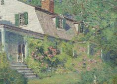 """""""Springtime, the Artist's Home, Old Lyme, CT,"""" Clark Greenwood Voorhees, oil on canvas, 15 1/2 x 19 1/2"""", private collection."""