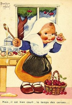"""Béatrice Mallet card - ''Cherry time is so short!"""""""