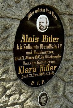 Parents of Adolf Hitler, I believe this sign has been removed recently 2012, as per request from the family