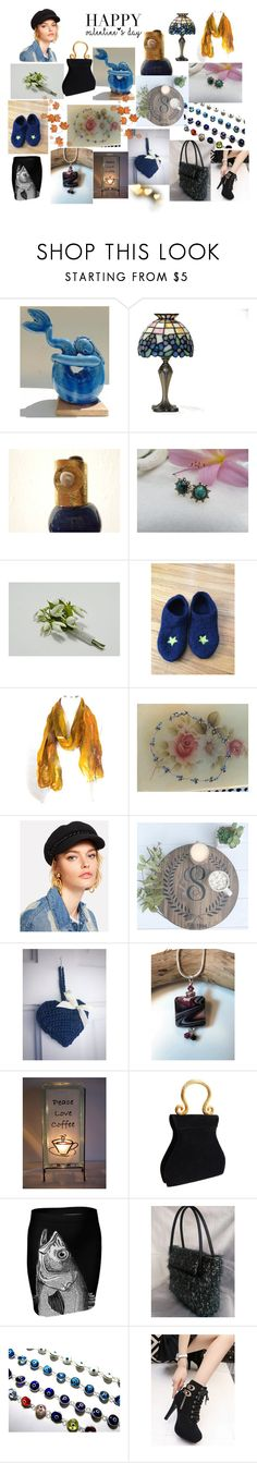"""""""Happy Valentine's Day"""" by anna-recycle ❤ liked on Polyvore featuring Vietri, Coffee Shop, Edouard Rambaud, MATÌ, modern, rustic and vintage"""