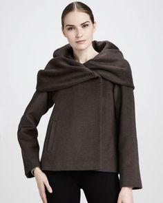 Alice Shawl-Collar Coat by Elie Tahari at Neiman Marcus.  Love the neck!