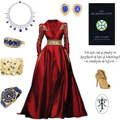 """Tolkien - Modern Noldorin Elf"" by domes-and-towers on Polyvore    That dress!"
