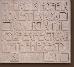 'Tribute' - raised letter carving in Portland Limestone   Letter carving comes in many forms and I can turn my hand to any style and form. I have been commisioned to carve many types of lettering, a few of which are on display here. The above raised lettering panel was carved as a 'Tribute'- to Charles Renee Mackintosh. The unusually shaped slate carving 'Forgotten letter', was inspired bythe found fragment of wild welsh slate; the natural exposed layering suggesting remenants of pages of…