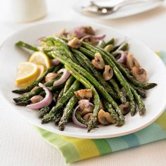 Try our Oven-Roasted Asparagus & Mushrooms -- an easy side dish option