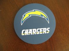 SAN DIEGO CHARGERS 4 PACK VINYL COASTER SET FROM DUCKHOUSE SPORTS #DuckhouseSports #SanDiegoChargers