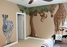 Stivers Art: Safari Nursery Mural This looks like a fun project, Mom. Stivers Art: Safari Nursery Mural This looks like a fun project, Mom. Safari Room, Jungle Baby Room, Jungle Theme Nursery, Baby Boy Nursery Themes, Baby Boy Room Decor, Baby Boy Rooms, Baby Boy Nurseries, Nursery Room, Girl Nursery